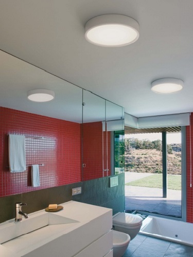Bathroom lights semi recessed ceiling light ip65 mozeypictures